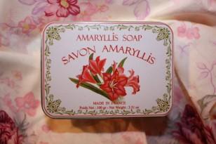 "Savon boite métal ""AMARYLLIS"""